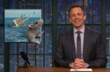 late night with seth meyers paul ryan rat fleeing sinking ship