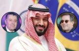 Haim Saban, Mohammad Bin Salman Al Saud, Jonathan Nelson