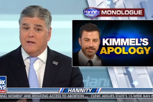 sean hannity invites jimmy kimmel with threats