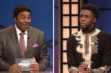snl saturday ngiht live black jeopardy black panther t'challa chadwick boseman