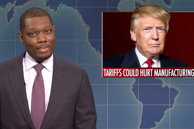 snl saturday night live weekend update michael che donald trump healthy as a fat horse