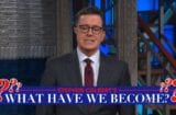 the late show stephen colbert's what have we become donald trump naked
