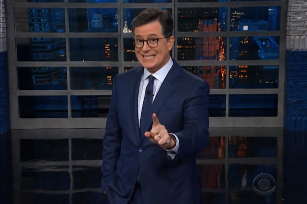 the late show with stephen colbert donald trump is a zeppelin