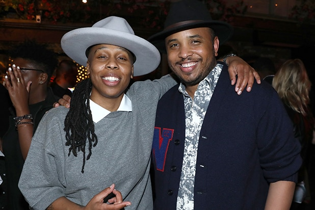 "Lena Waithe, left, and Justin Simien attend the Netflix original series ""Dear White People Vol. 2"" afterparty at Avenue on Wednesday, May 2, 2018,"