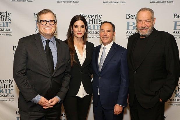 Drew Carey, Sandra Bullock, Cliff Gifford-Lurie, Dick Wolf.JPG