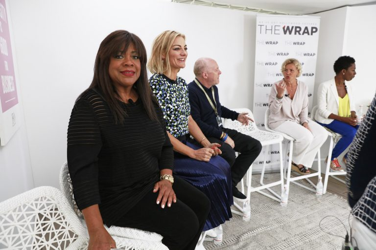 "TheWrap and The Female Quotient Present ""Changing Hollywood: The Road to 50/50 by 2020"" at the 71st Cannes Film Festival (L-R) Chaz Ebert, Lucy Walker, Cassian Elwes, Anna Serner and Dionne Audain"
