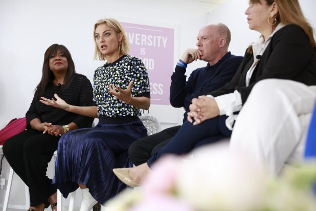 "TheWrap and The Female Quotient Present ""Changing Hollywood: The Road to 50/50 by 2020"" at the 71st Cannes Film Festival Chaz Ebert, Lucy Walker, Cassian Elwes and Robin Bronk"