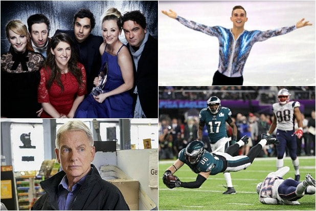 'Big Bang Theory' - Winter Olympics - 'NCIS' - Super Bowl