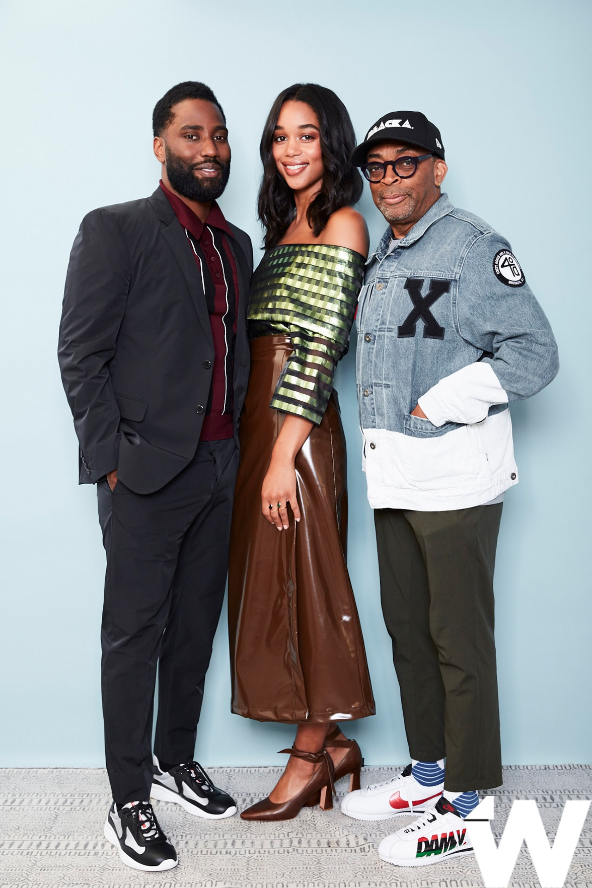 John David Washington,Laura Harrier and SpikeLee, BlacKkKlansman