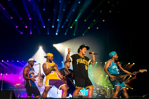Bruno Mars and Band