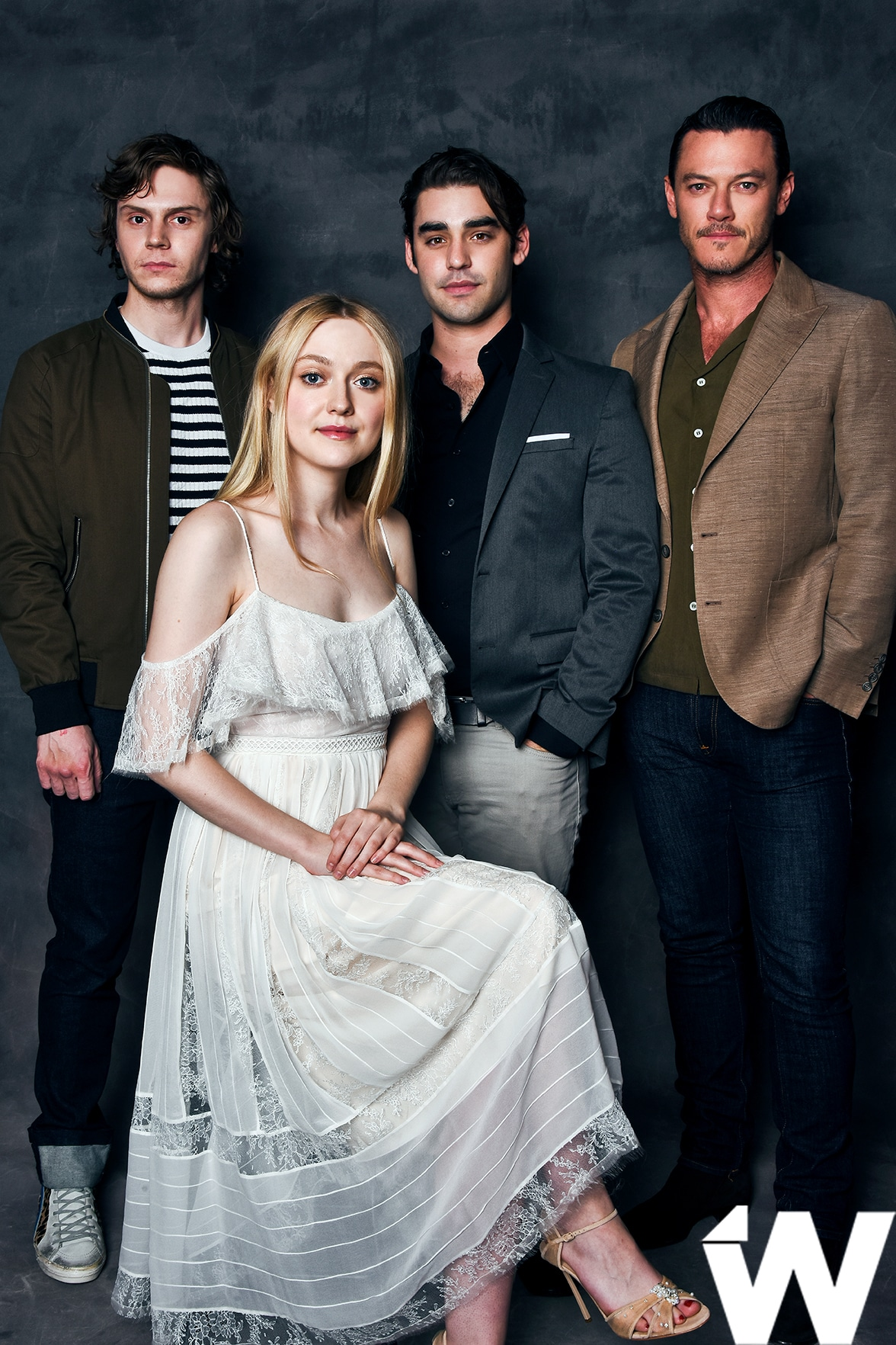 Evan Peters, Dakota Fanning, Alex Rich, and Luke Evans, Emmy Screening Series