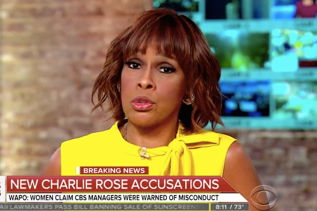 Gayle King Charlie Rose CBS News