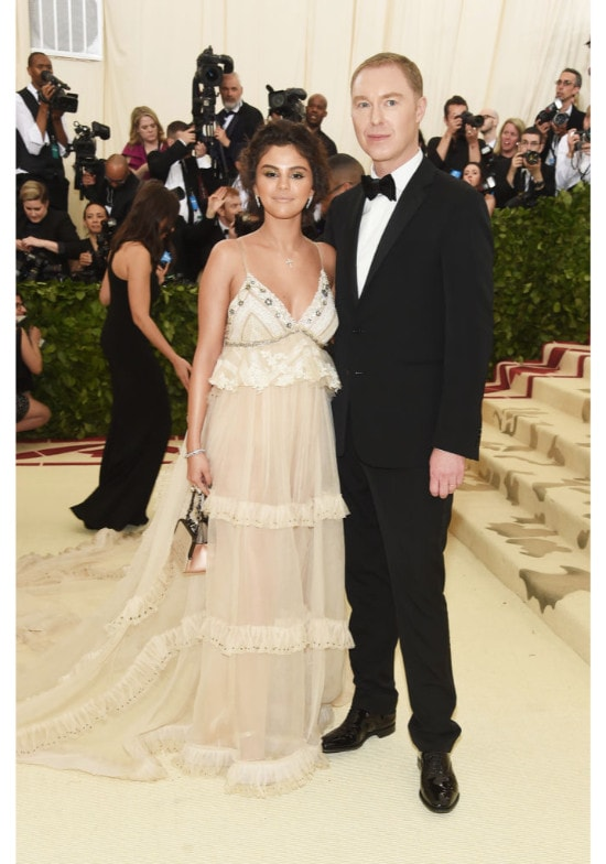 Selena Gomez and designer Stuart Vevers