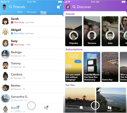 Snapchat's overhauled redesign should be hitting your phone soon