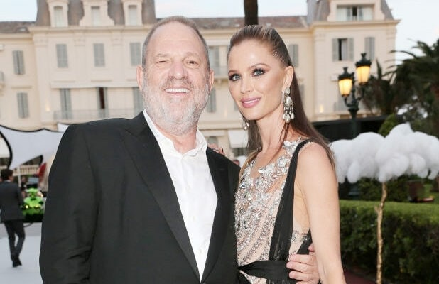 Harvey Weinstein and Georgina Chapman attend the amfAR Gala Cannes 2017 at Hotel du Cap-Eden-Roc on May 25, 2017 in Cap d'Antibes, France. (Photo by Gisela Schober/Getty Images)