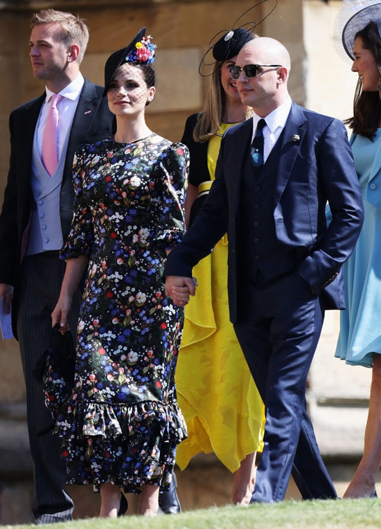 Charlotte Riley and Tom Hardy arrive at the wedding of Prince Harry to Ms Meghan Markle