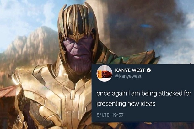 kanye west thanos twitter attacked new ideas avengers infinity war