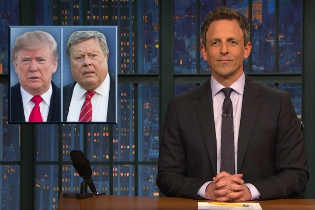 late night with seth meyers donald trump looks like melania's dad