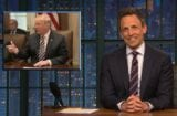 late night with seth meyers donald trump talks like a moron about north korea