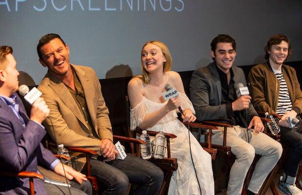 Luke Evans, Dakota Fanning, Alex Rich, Evan Peters Outstanding Limited Series Panel