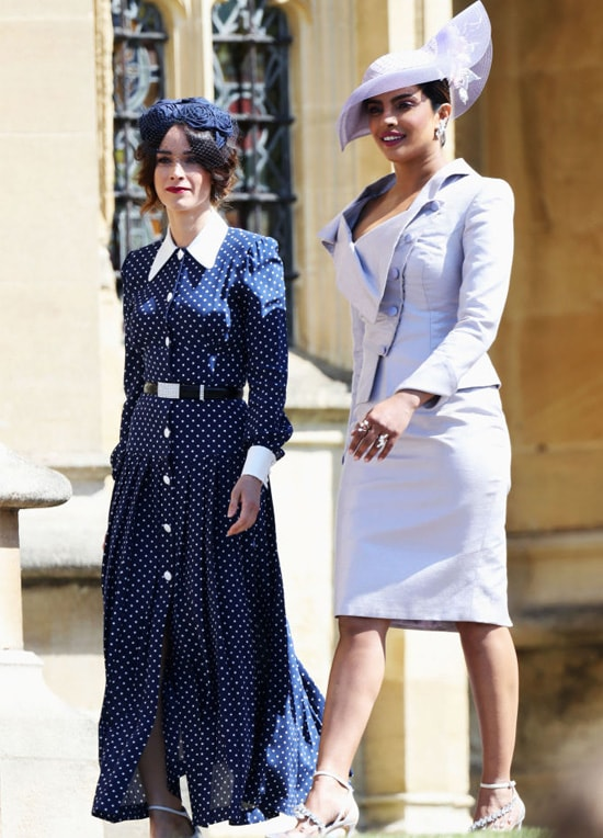Abigail Spencer and Priyanka Chopra arrive at the wedding of Prince Harry to Ms Meghan Markle