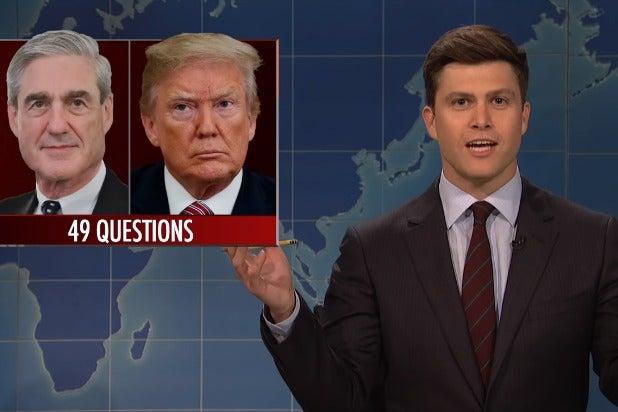 Snl Weekend Update Host Colin Jost Trump Is Now Crowd Sourcing
