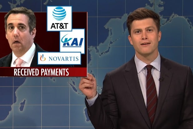 snl saturday night live weekend update colin jost michael cohen essential consultants