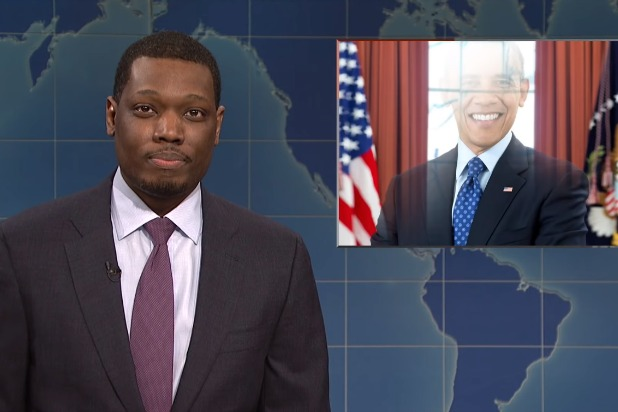 snl saturday night live weekend update donald trump barack obama back to the future
