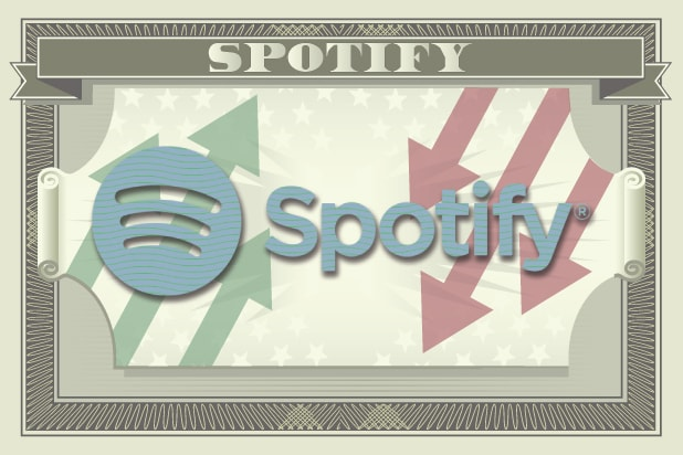 Spotify shares sink nearly 9% following first earnings report