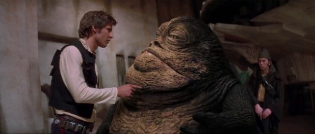 the entire plot of the movie is just the situation han was in with jabba solo a star wars story recycled moments