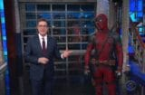 the late show with stephen colbert deadpool makes fun of trump