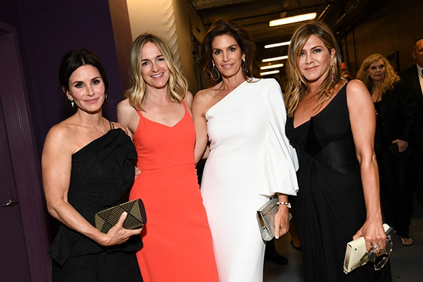 Courteney Cox, Molly McNearney, Cindy Crawford, and Jennifer Aniston