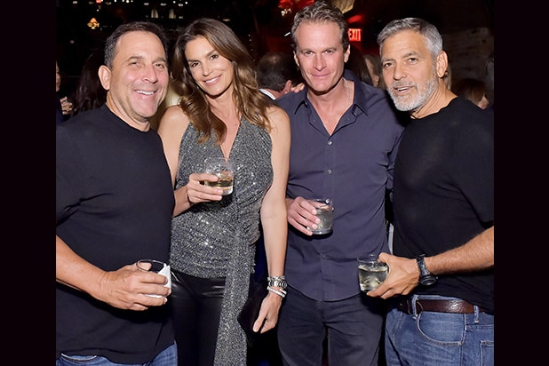 Mike Meldman, Cindy Crawford, Rande Gerber and George Clooney