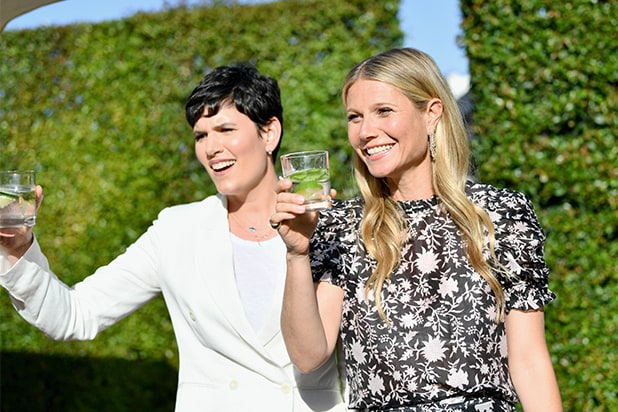 Elise Loehnen and host Gwyneth Paltrow