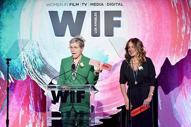 Frances McDormand (L) and Cathy Schulman