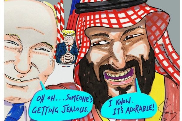 Jim Carrey artwork Trump Putin