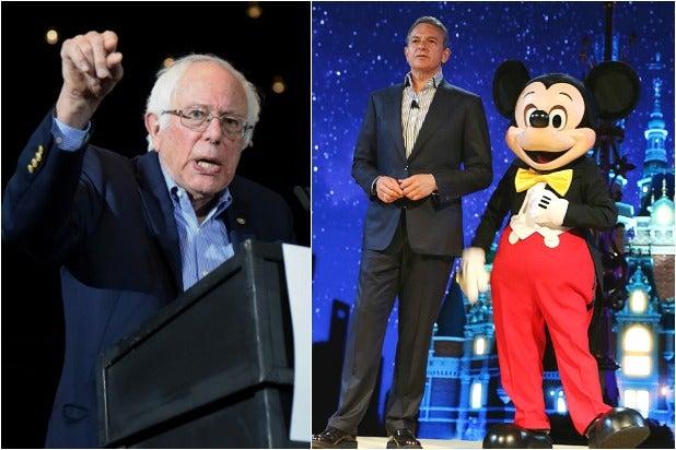 Bernie Sanders Bob Iger Mickey Mouse