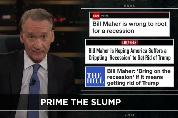 Bill Maher Recession Double down