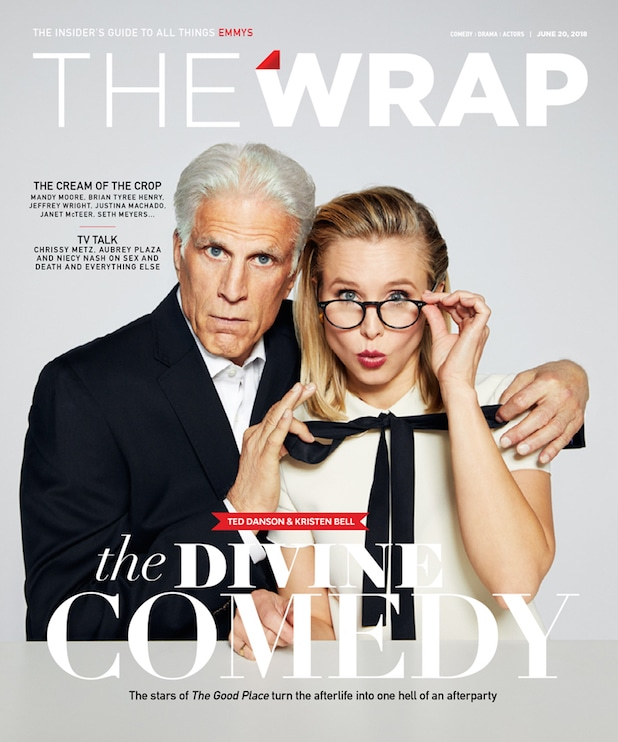 EmmyWrap Good Place cover Ted Danson Kristen Bell
