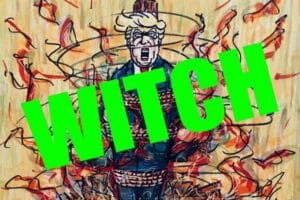 Jim Carrey artwork trump witch hunt