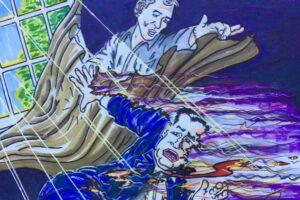 Jim Carrey artwork Beto O'Rourke