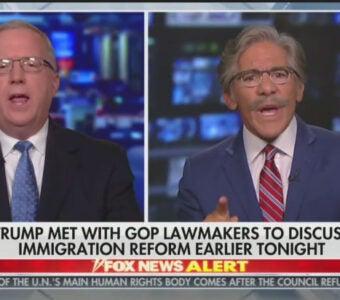 "Geraldo Rivera speaking on Fox News' ""Hannity"""