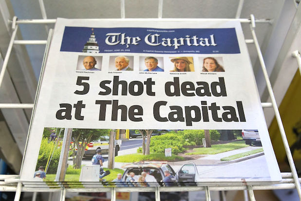 Capital Gazette Publishes Paper Day After Massacre: 'We're