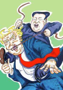 Jim Carrey artwork Trump Kim Jung Un