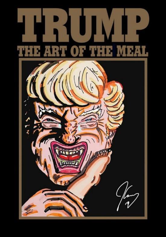 Jim Carrey artwork trump book