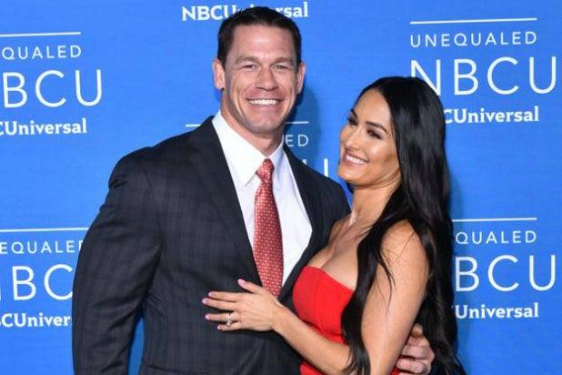 John Cena and Nikki Bella at NBCUniversal upfront