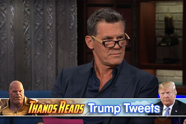 Josh Brolin Thanos Trump Tweets