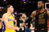 LeBron James Lonzo Ball Lakers
