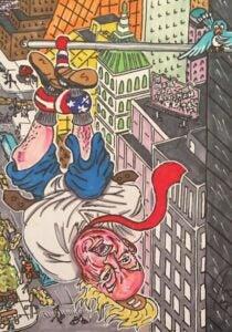 Jim Carrey artwork Manafort