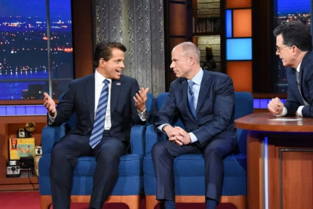 Michael Avenatti and Scaramucci on Colbert